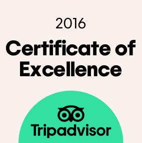 TripAdvisor Certificaat van uitmuntendheid